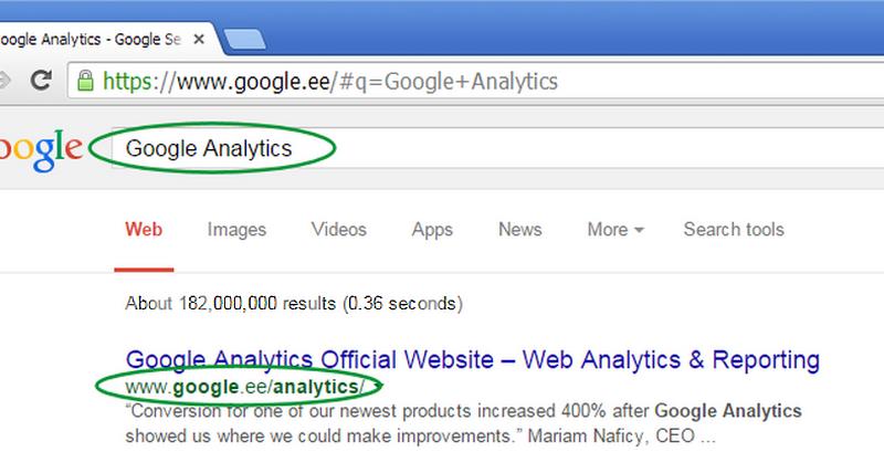 Liida Google Analytics enda kodulehega